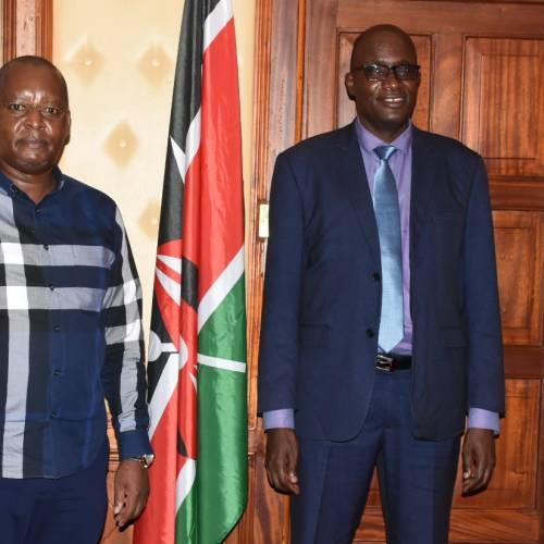 CEO'S COURTESY CALL TO THE NATIONAL ASSEMBLY MAJORITY LEADER HON. AMOS KIMUNYA